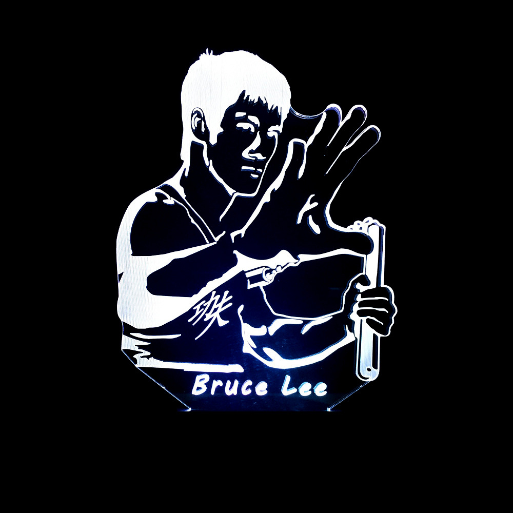 Bruce Lee 3D LED Lamp.