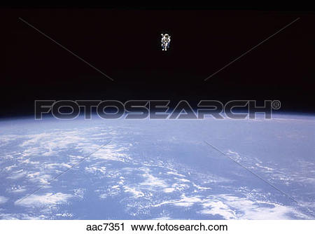 Stock Photography of Astronaut floating in space. Astronaut. Capt.