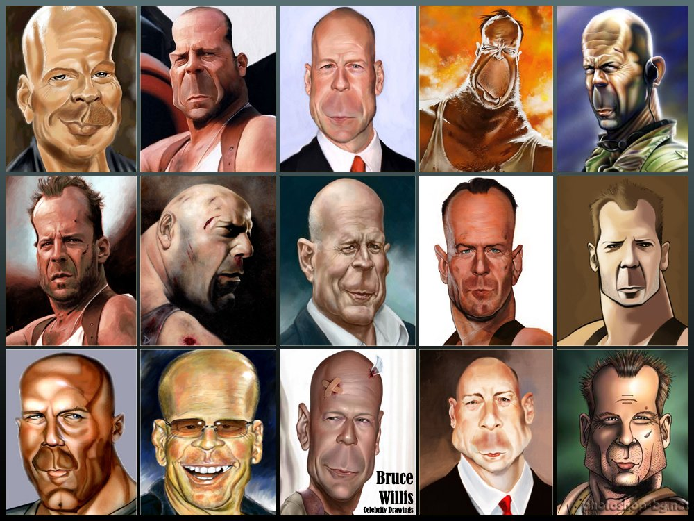 Bruce willis clipart.