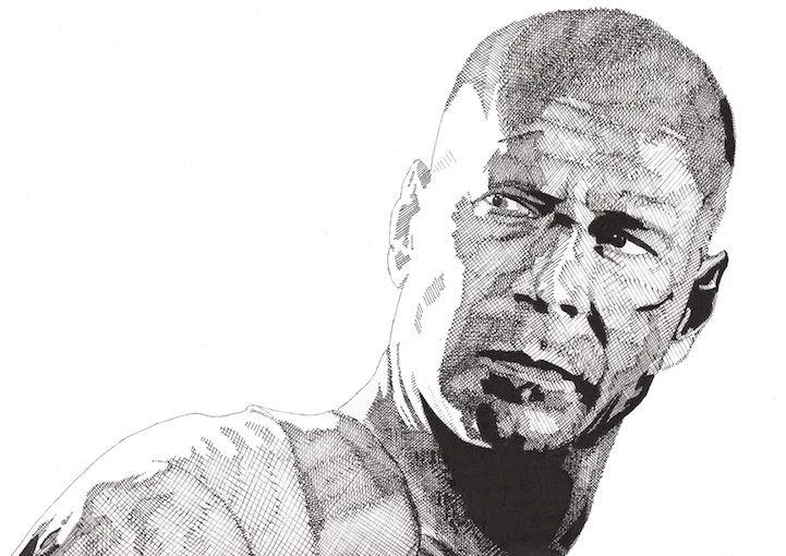 Bruce Willis by Rik Reimert.