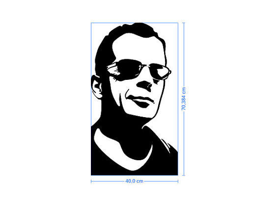 Bruce Willis John McClane Silhouette Vinyl Decal by BrutalVisual.