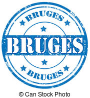 Vector Clipart of Bruges sign or stamp.