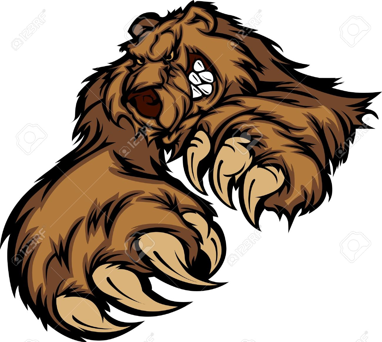 962 Grizzly Bear free clipart.