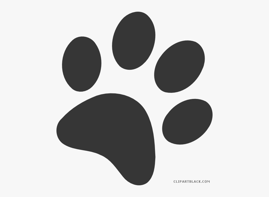 Dog Paw Prints Clipart.