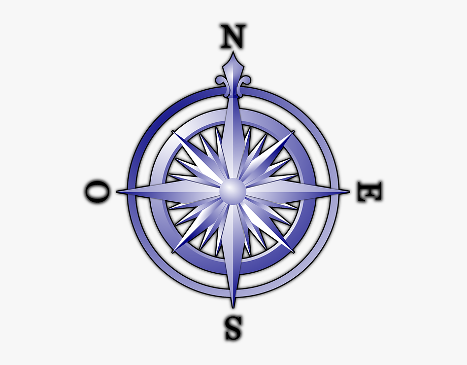 Blue Compass Svg Clip Arts 558 X 594 Px.