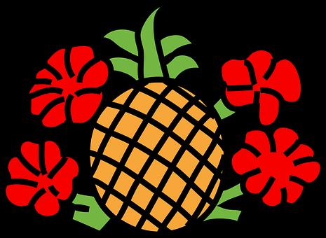 Blumen, Früchte.
