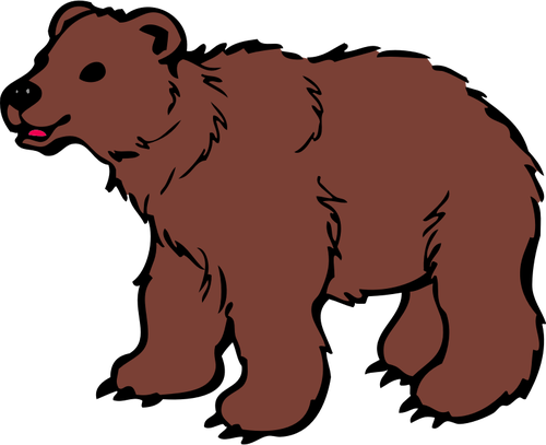 Unga brun Björn vektor ClipArt.