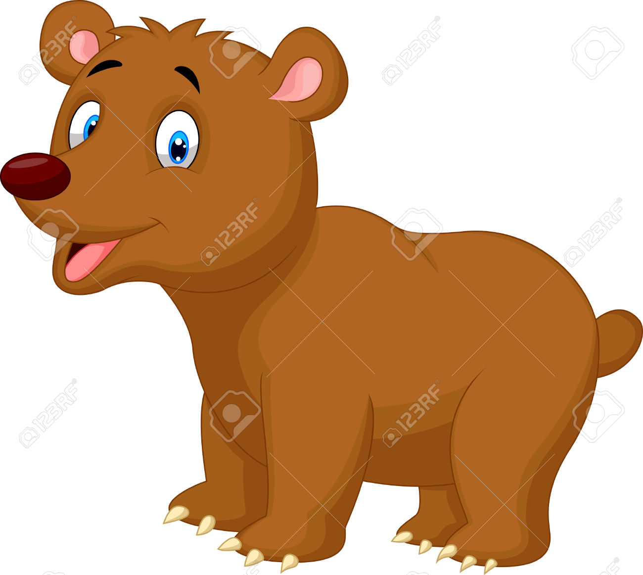 Cute Brown Bear Cartoon Royalty Free Cliparts, Vectors, And Stock.