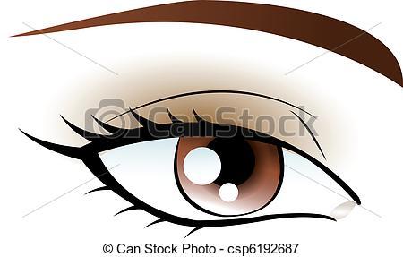 Illustrations Vectorisées de brun, oeil csp6192687.