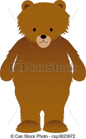 Illustration Vecteur de brun, ours.