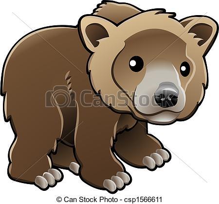Vektor Clip Art av CÙte, brun, Grisslybjörn, björn, vektor.