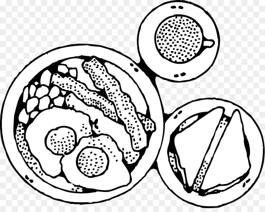 Breakfast Food Clipart Black And White.