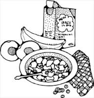 Free Eating Breakfast Clipart Black And White, Download Free.