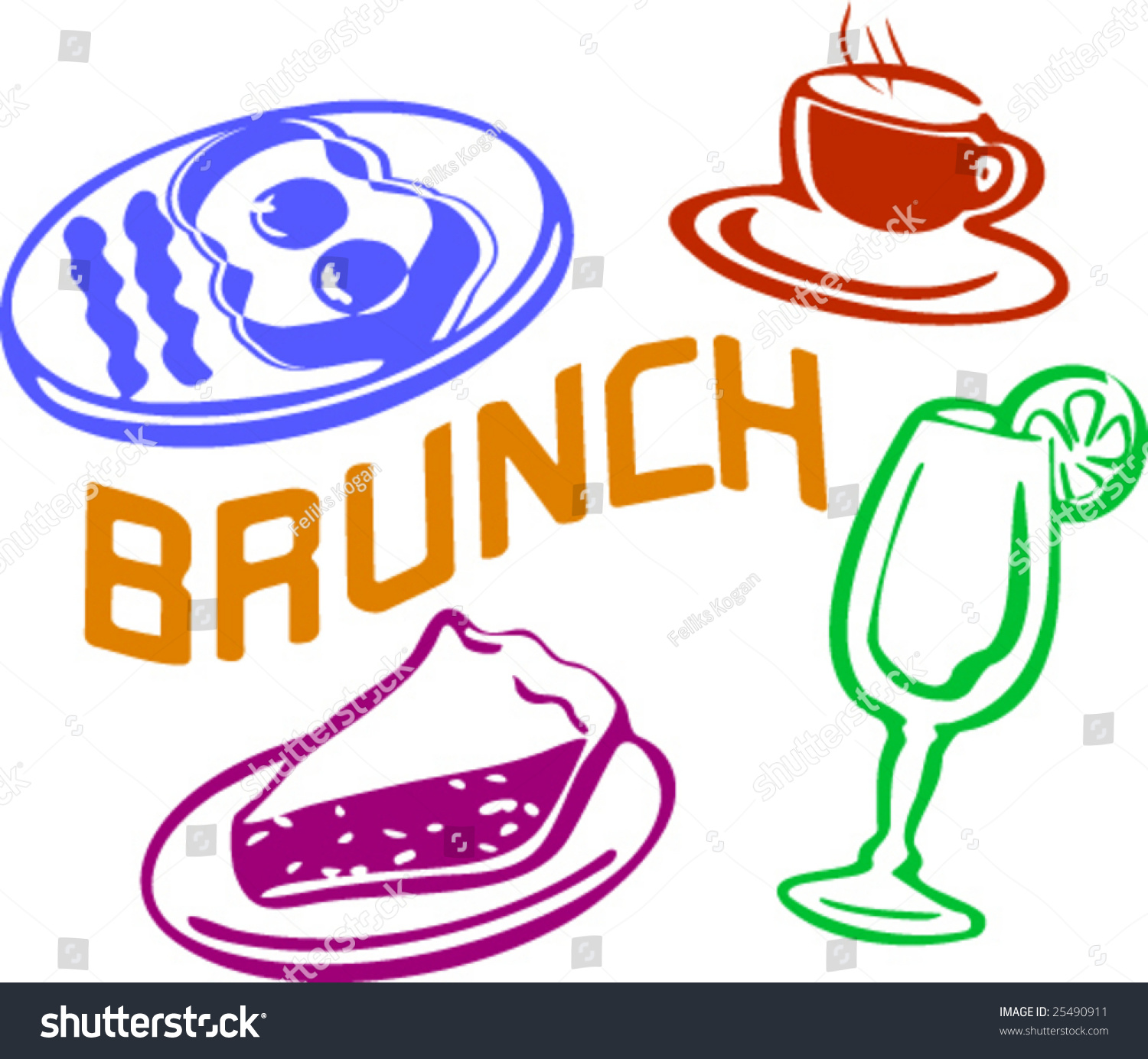 Brunch Clipart Group with 20+ items.