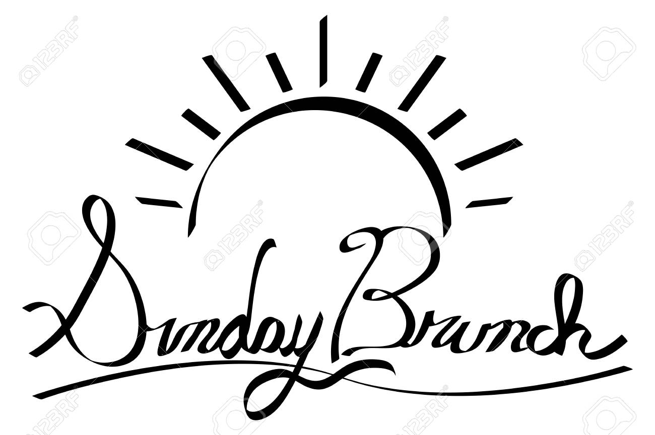 An image of a Sunrise Sunday Brunch Calligraphy. Made using pen...
