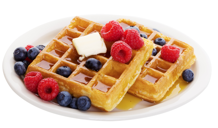 Waffle Breakfast PNG Transparent Waffle Breakfast.PNG Images..