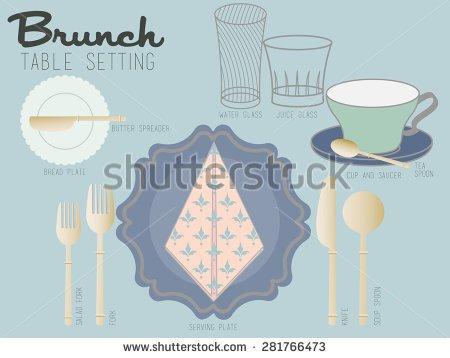 Brunch Table Clipart.