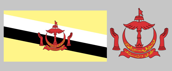 flag of Brunei.