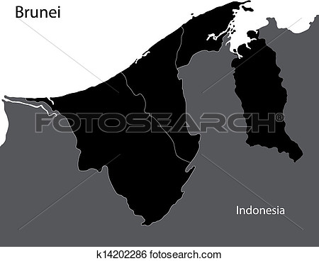 Brunei Black And White Clipart.