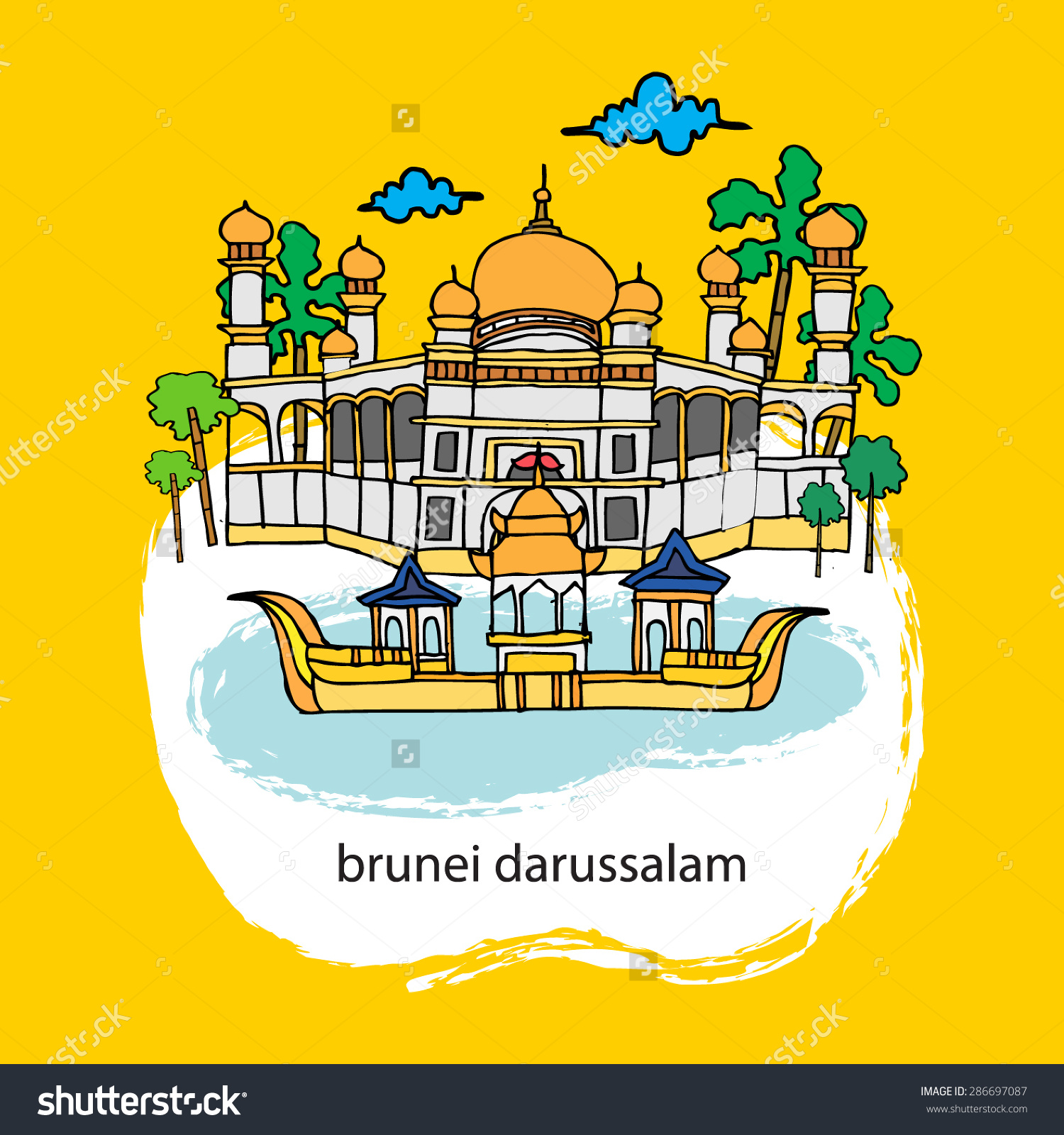 Brunei Stock Vector 286697087.
