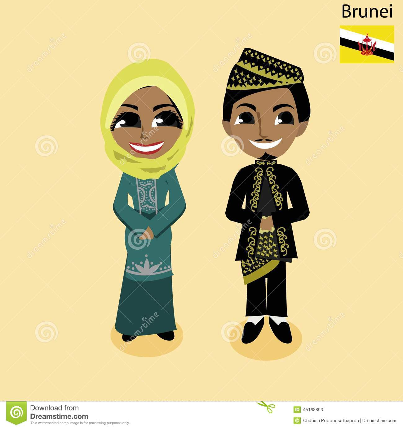 Brunei Stock Illustrations.