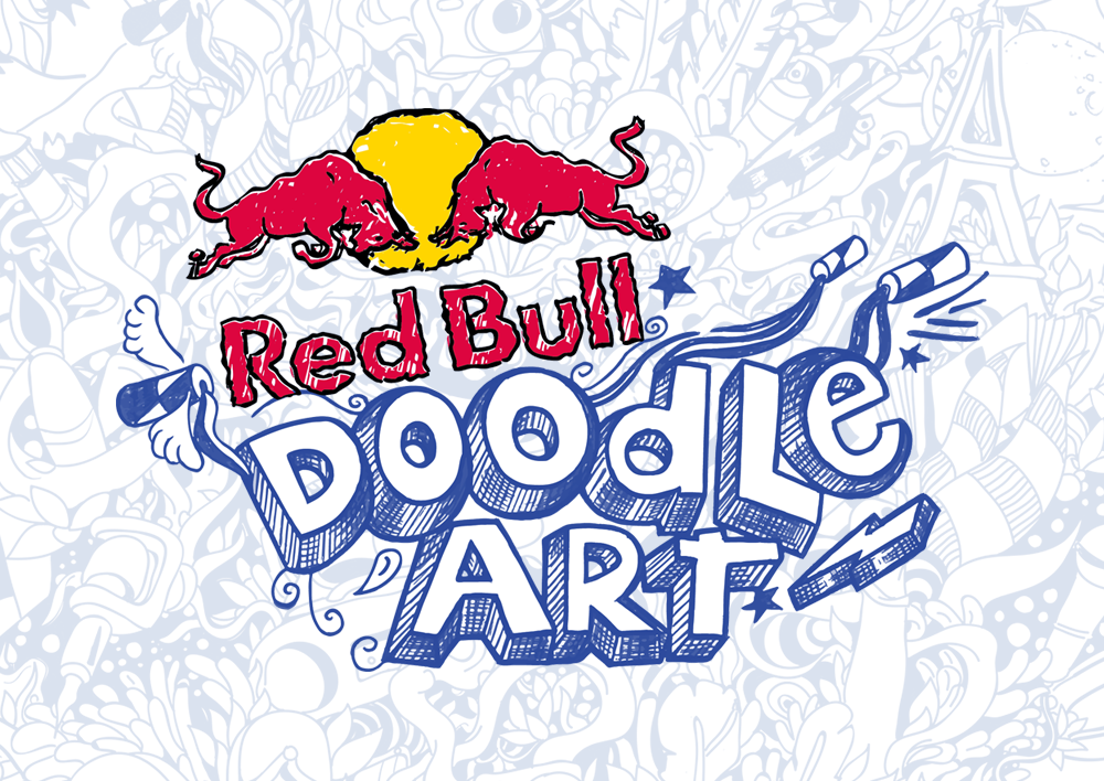 Red Bull Doodle Art.