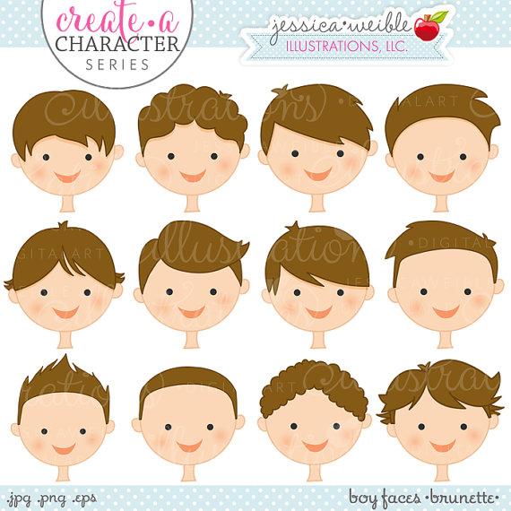 Brunette Boy Faces.