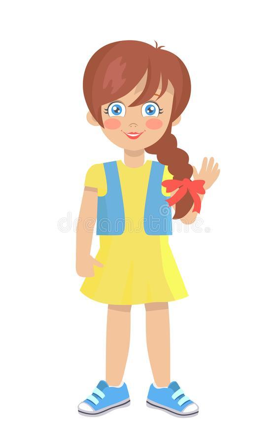 Brunette Girl Stock Illustrations.
