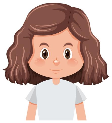 A curly hair brunette girl character.