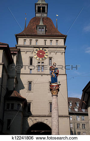 Stock Images of Figure of Anna Seiler Brunnen by Gieng 16th.