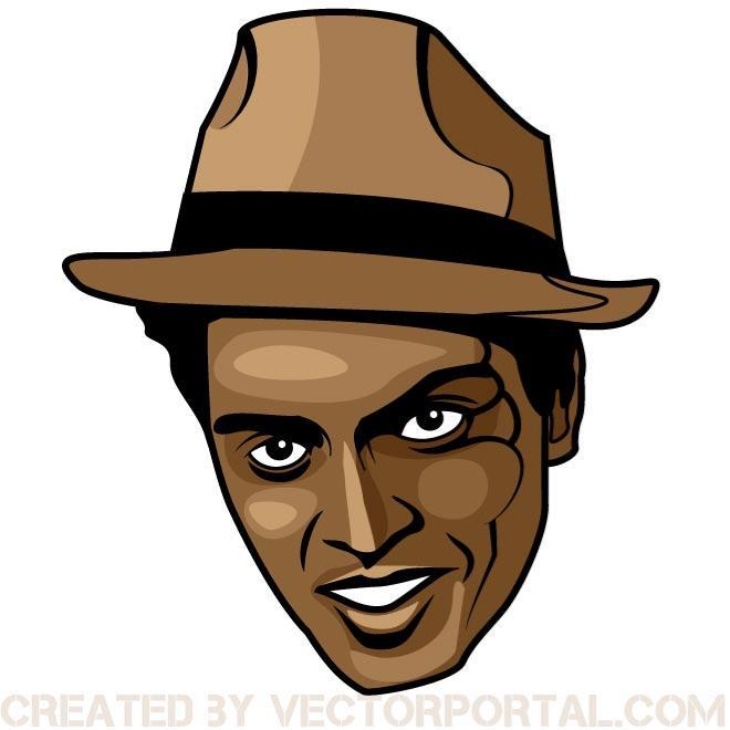 Singer Bruno Mars Image Free Vector.