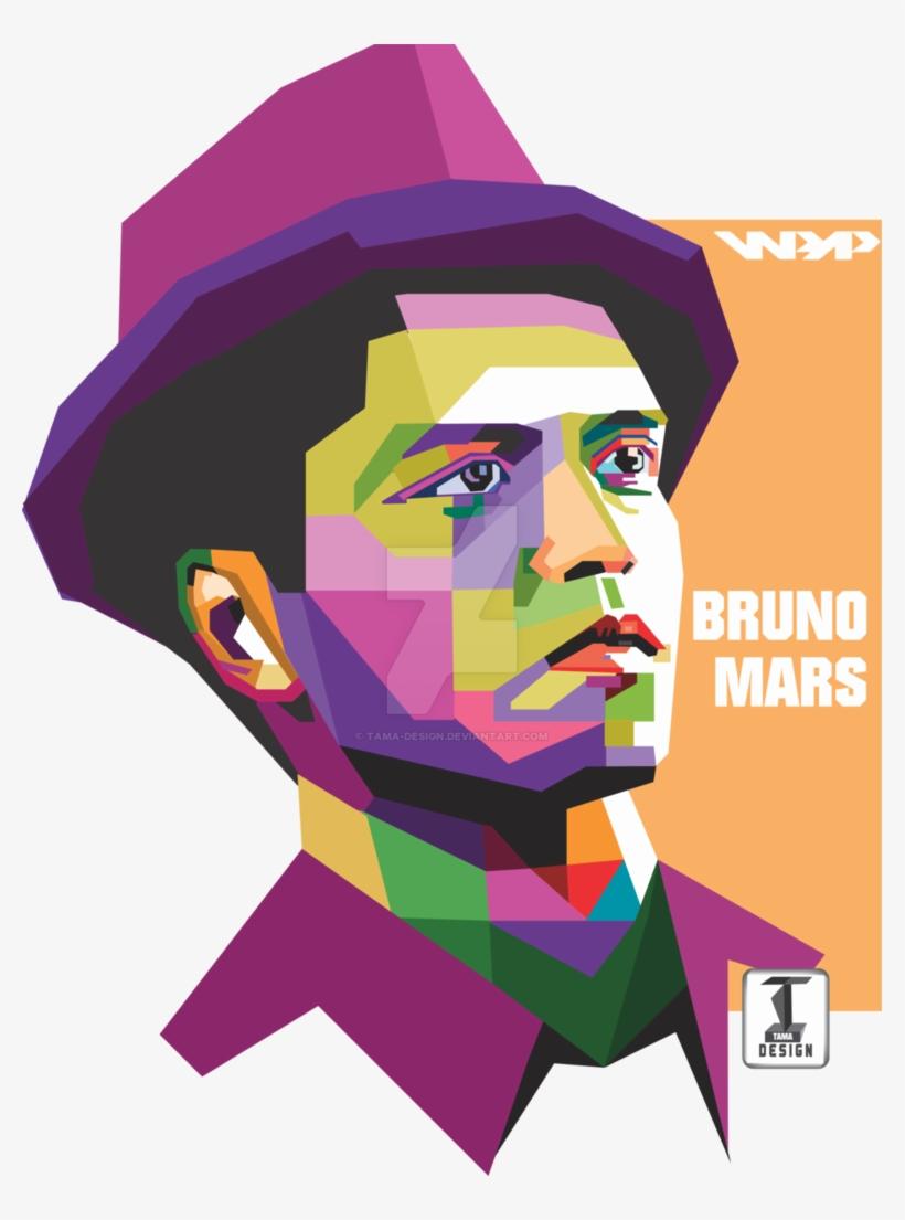 Clip Black And White Library Bruno Mars Clipart.