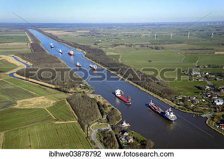 "Stock Photo of ""Ship traffic on the Kiel Canal or Nord."