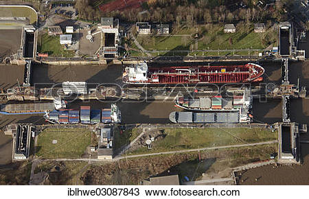 "Stock Photo of ""Lock of the Kiel Canal, German: Nord."