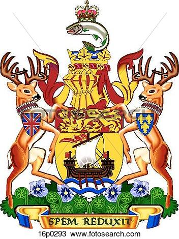 Clipart of New Brunswick Coat of Arms 16p0293.