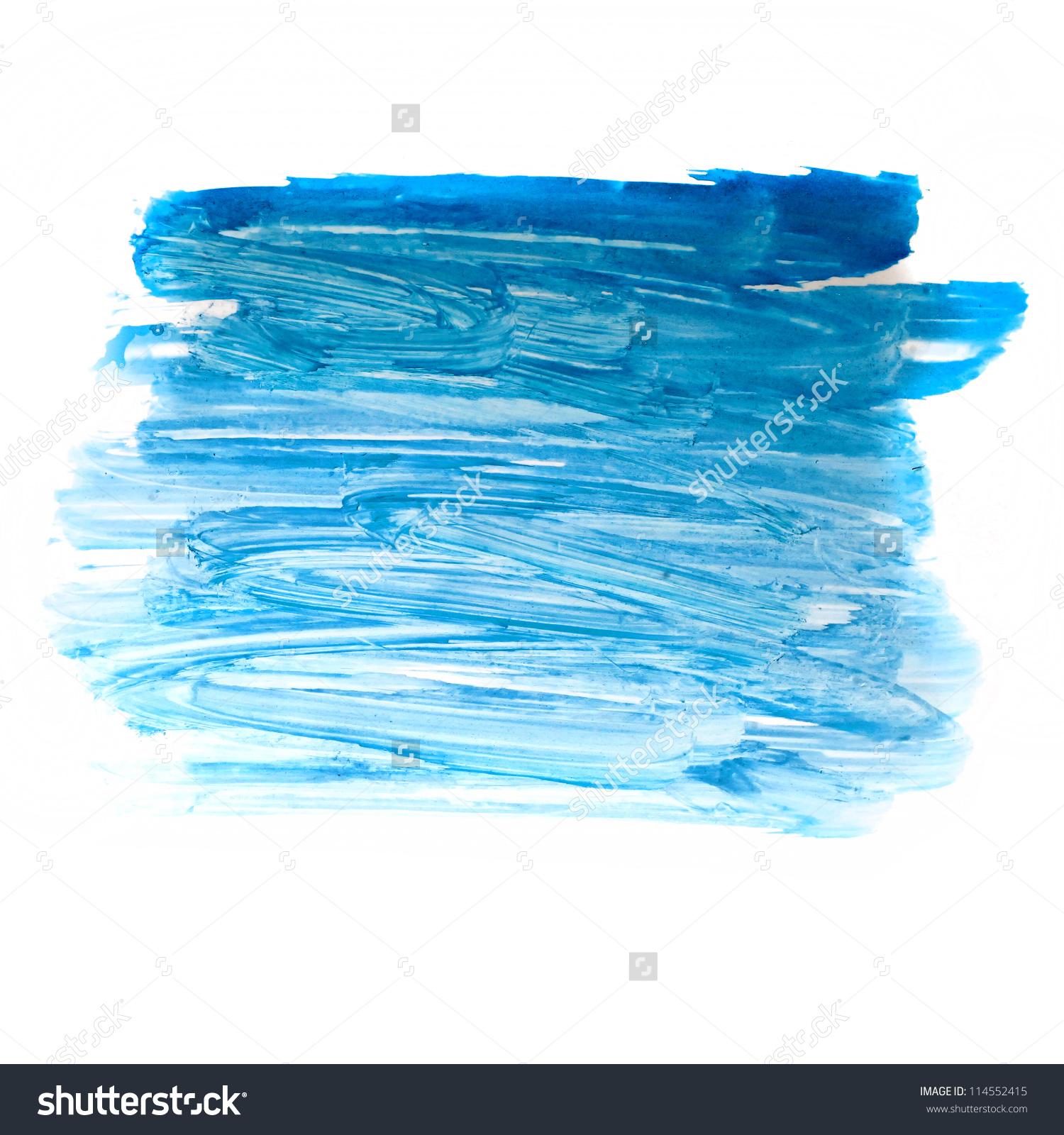Stroke Blue Paint Brush Color Water Stock Illustration 114552415.