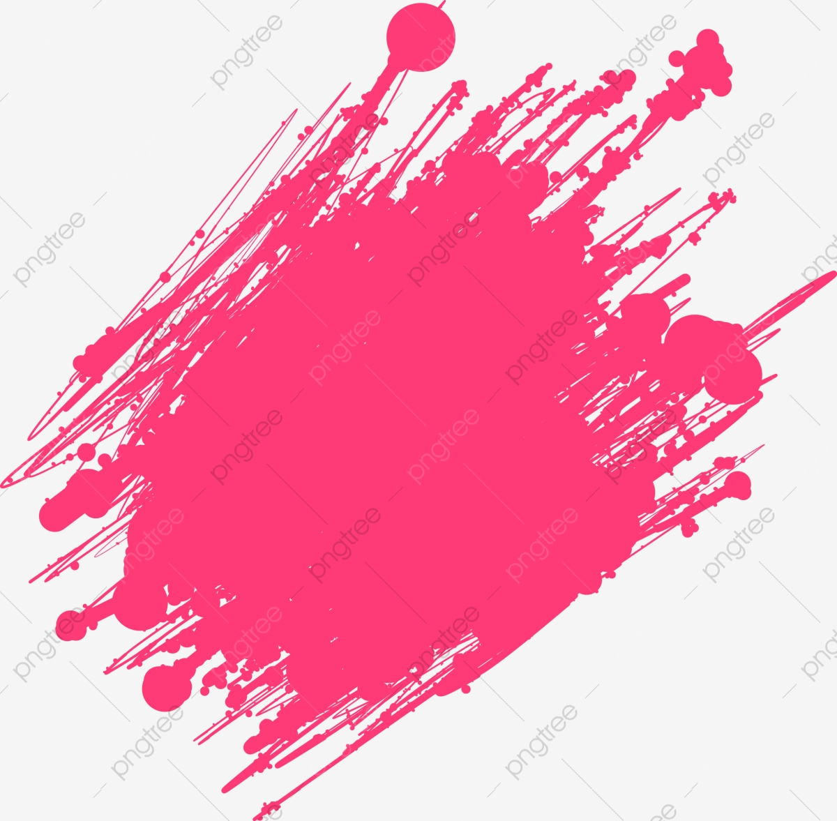 Red Vector Ink Brush, Brush Vector, Background Material, Leave The.
