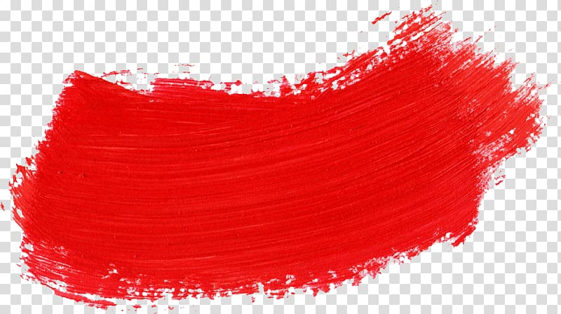 Red paint , Red Paintbrush, brush stroke transparent background PNG.