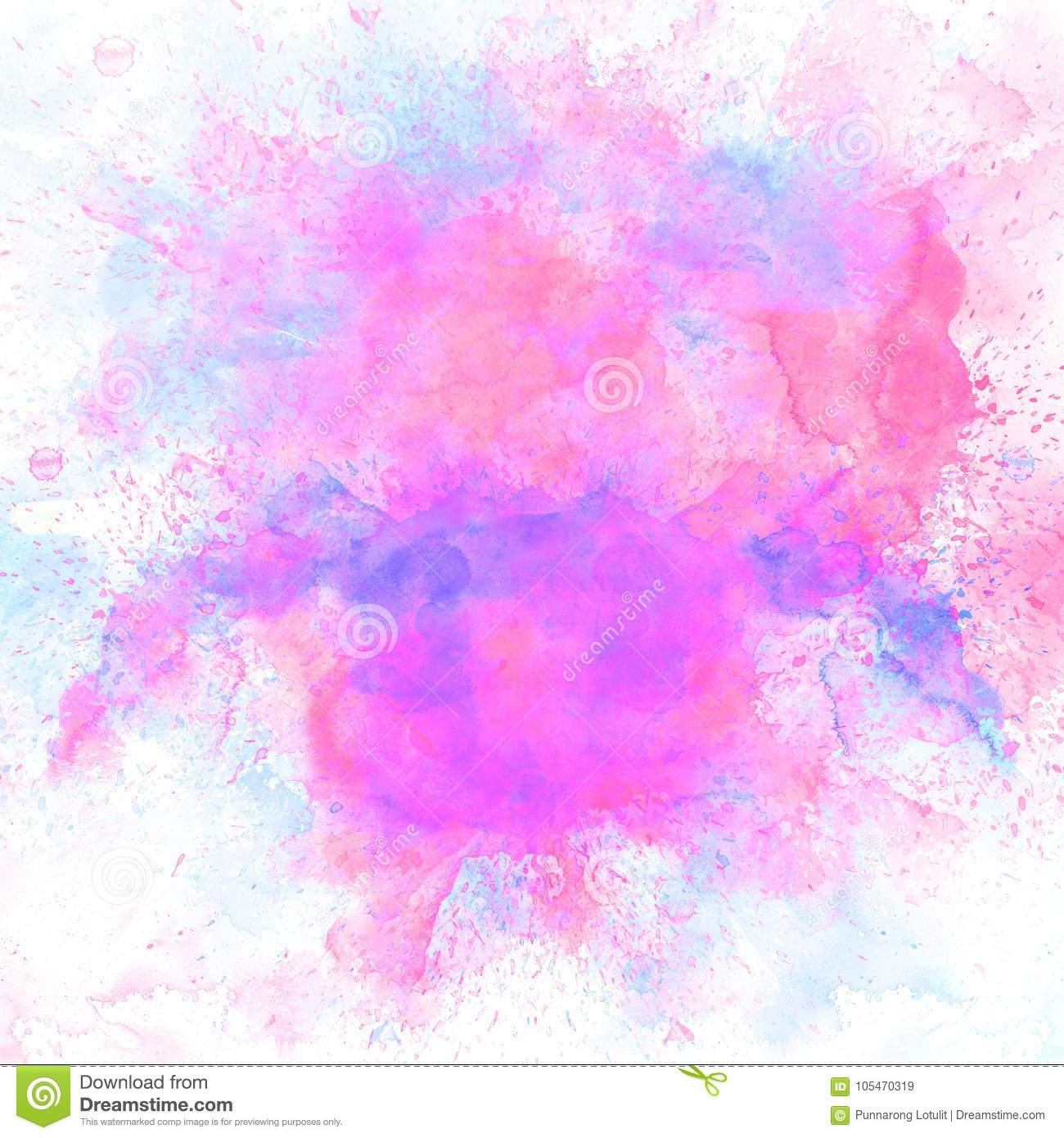 Abstract Colorful Watercolor Painting Background, Colorful Brush.