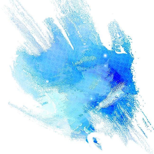 Creative Background Blue Brushes, Blue, Brush, Ink Background Image.
