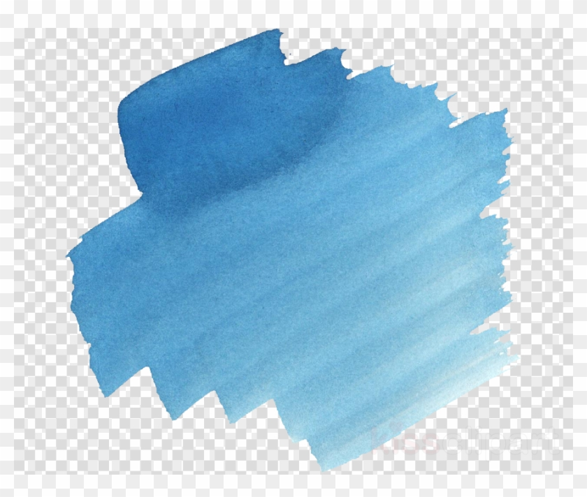 Blue Brush Background Png Clipart Watercolor Painting, Transparent.