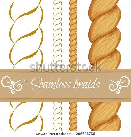 Hair Braids Hair Plaits Isolated On Stock Vector 295976537.