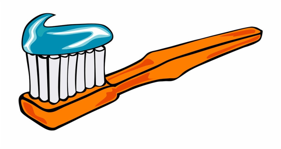 Chewing Brushing Teeth Clipart.