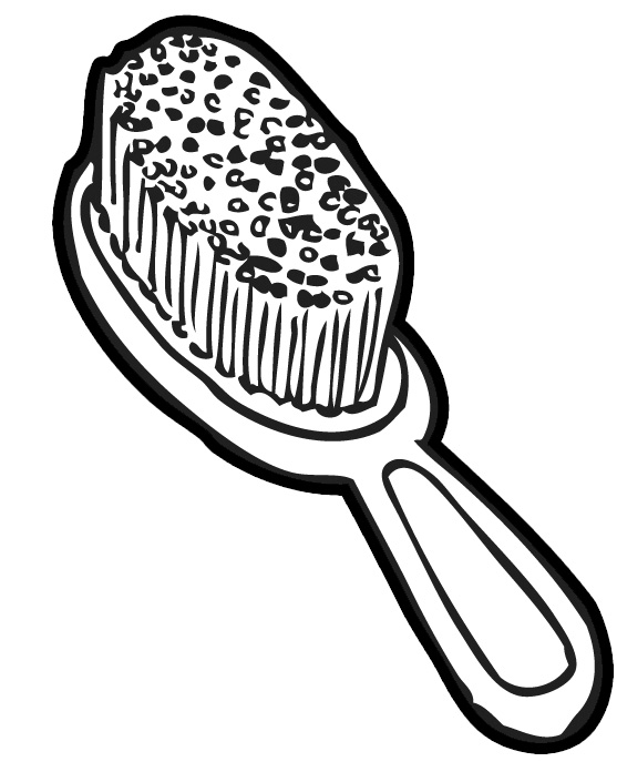 Hair Brush Clipart.
