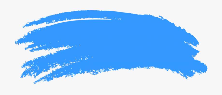 Blue Brush Vector Clipart.