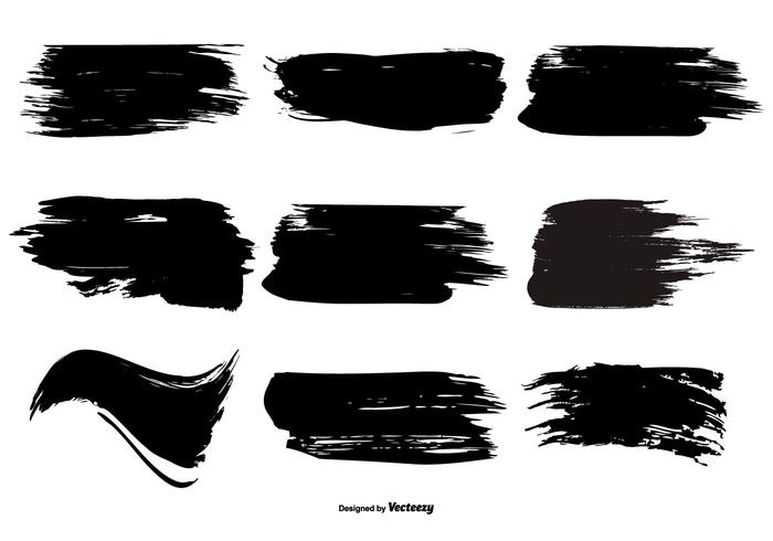 Paint Brush Stroke Shape Collection.