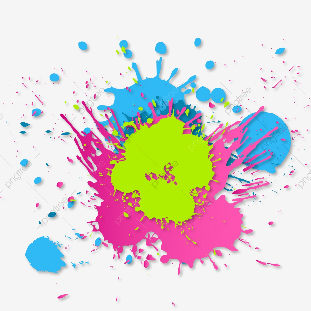 Brush Color Splash Stain, Splash, Color, Watercolor PNG and Vector.