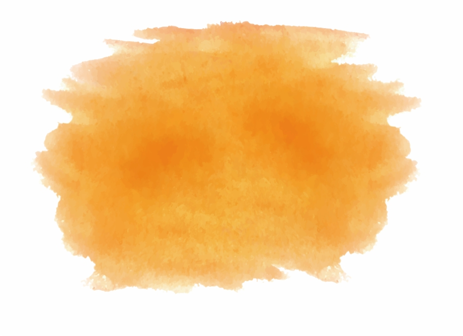 Orange Water Color Brush Stroke Png , Png Download.