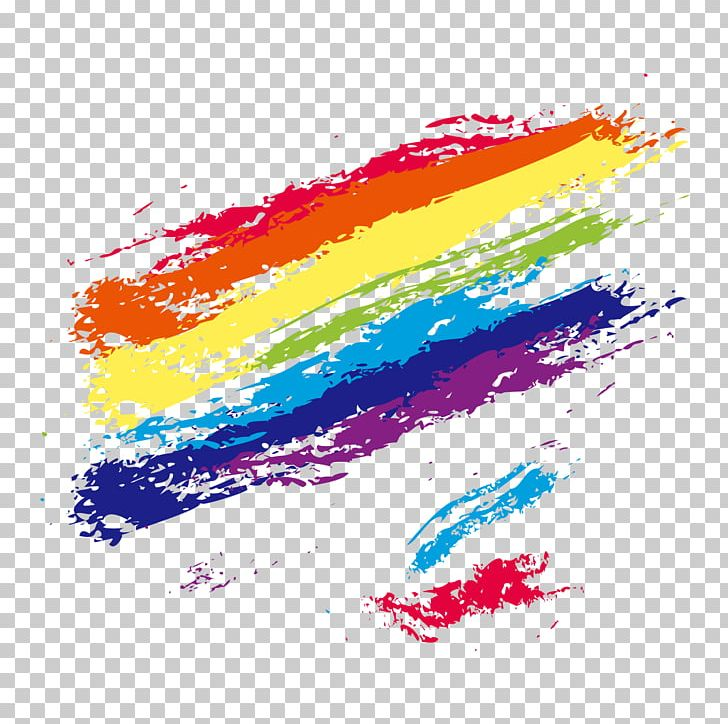 Brush Color Rainbow PNG, Clipart, Cdr, Christmas Decoration, Cloud.