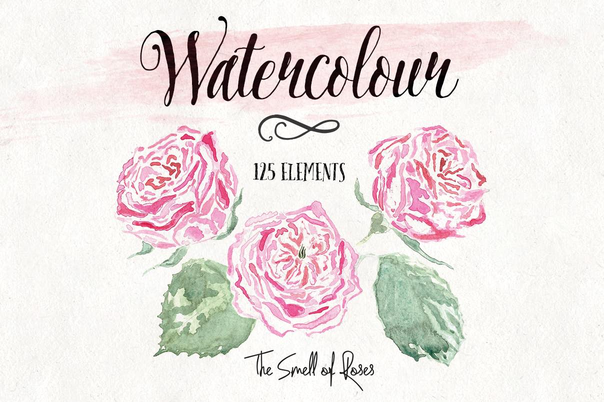Watercolor flower clipart free.